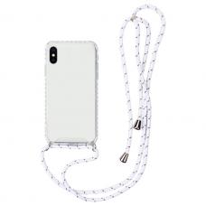 iphone x / xs dėklas su virvute Strap skaidrus