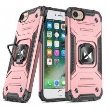Akcija! Iphone 7 / 8 / se 2020 apsauginis dėklas Wozinsky Ring Armor rožinis