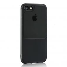 Iphone 7 / 8 / SE 2020 dėklas Window Case silikonas juodas
