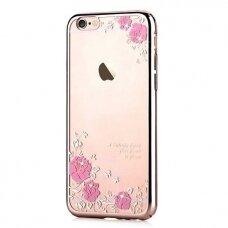 Akcija! Iphone 7 / Iphone 8 dėklas devia joyous swarovski pc plastikas rožinis