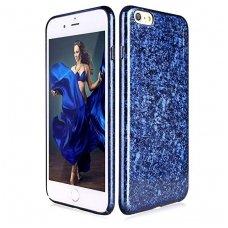 iphone 7/8 dėklas pipilu/x-level ice crystal pc plastikas mėlynas
