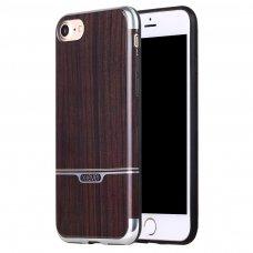 Iphone SE 2020 dėklas pipilu/x-level wood tpu rudas