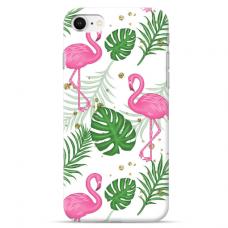 """Iphone 7 / Iphone 8 TPU dėklas unikaliu dizainu 1.0 mm """"u-case Airskin Flamingos design"""""""