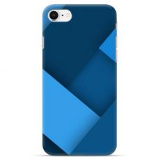 """Iphone 7 / Iphone 8 TPU dėklas unikaliu dizainu 1.0 mm """"u-case Airskin Blue design"""""""