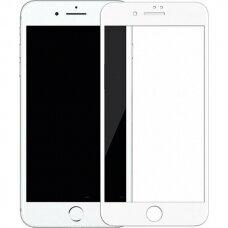 """Iphone 7 NILLKIN APSAUGINIS GRŪDINTAS STIKLAS """"DIAMOND 3D FULL"""" PILNAI UŽDENGIANTIS BALTAS"""