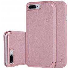 Iphone 7 Plus/ 8 Plus atverčiamas dėklas Nillkin Sparkle PU Oda rausvas