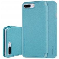 Iphone 7 Plus/ 8 Plus atverčiamas dėklas Nillkin Sparkle PU Oda žydras