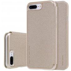 Iphone 7 Plus/ 8 Plus atverčiamas dėklas Nillkin Sparkle PU Oda aukso spalvos