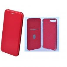 iphone 7 plus / 8 plus ATVERČIAMAS DĖKLAS SMART HYBRID KIETO PLASTIKO raudonas