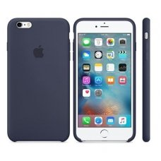"iPhone 6/6s Dėklas ""apple Silicone case"" midnight blue"