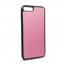 Iphone 7 plus / 8 plus dėklas beeyo carbon pc plastikas rožinis