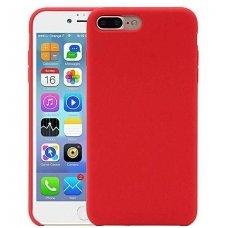 """iphone 7 plus / 8 plus dėklas """"Liquid silicon""""  silikonas raudonas"""