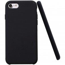 """Iphone 7 plus / 8 plus dėklas """"Liquid silicon""""  silikonas juodas"""