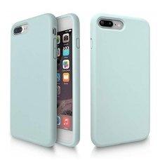 """iphone 7 plus / 8 plus dėklas """"Liquid silicon""""  silikonas žalias"""