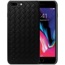 "Iphone 7 plus / 8 plus dėklas ""N TOP S KNIT"" silikonas juodas"