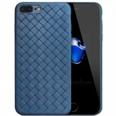 "Iphone 7 plus / 8 plus dėklas ""N TOP S KNIT"" silikonas mėlynas"