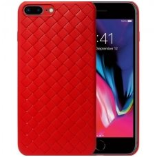 "Iphone 7 plus / 8 plus dėklas ""N TOP S KNIT"" silikonas red"