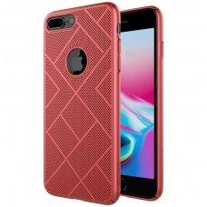 iphone 7 plus / 8 plus DĖKLAS NILLKIN AIR PC PLASTIKAS raudonas