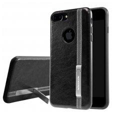 Iphone 7 Plus / 8 Plus dėklas Phenom su įmontuota metaline plokštele, galima naudoti su magnetiniu laikikliu rudas