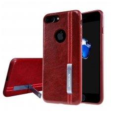 Iphone 7 Plus / 8 Plus dėklas Phenom su įmontuota metaline plokštele, galima naudoti su magnetiniu laikikliu raudonas