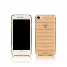 iphone 7 plus / 8 plus dėklas remax waves tpu rose gold auksinis