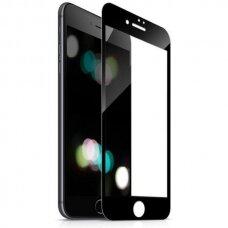 """Iphone 7 plus /8 plus lenktas grūdintas apsauginis stiklas """"Full Glue""""H Pro 5D H9+ juodais kraštais"""
