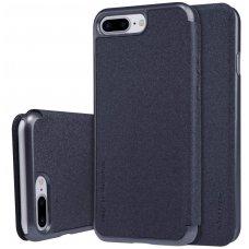 Iphone 7 Plus/ 8 Plus atverčiamas dėklas Nillkin Sparkle PU Oda Juodas