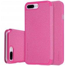 Iphone 7 Plus/ 8 Plus atverčiamas dėklas Nillkin Sparkle PU Oda rožinis