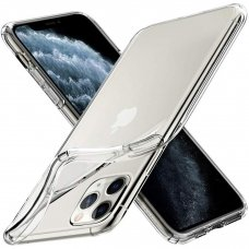 Akcija ! iphone 11 pro dėklas high clear 1,0mm silikonas skaidrus
