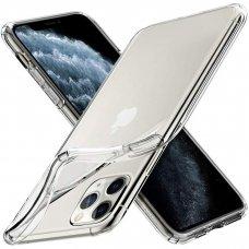 Akcija! iphone 11 dėklas high clear 1,0mm silikonas skaidrus