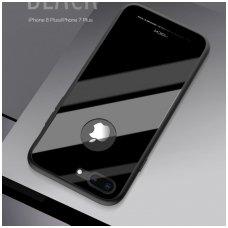Iphone 7 plus/ 8 plus Dėklas ROCK Brilliant juodas pc plastikas ir grūdinto stiklo plokštelė