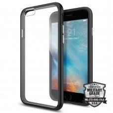 "Iphone 6/6s Dėklas permatomas juodu rėmeliu ""Spigen ULTRA Hybrid """