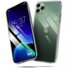 iphone 11 pro max DĖKLAS X-LEVEL ANTISLIP 0,78 MM SILIKONINIS SKAIDRUS