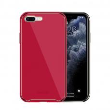 Iphone 8 dėklas Glass Case stiklas+tpu rožinis