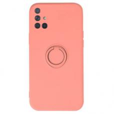 Samsung galaxy A51 dėklas su magnetu Pastel Ring Rožinis