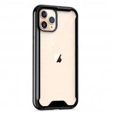 iphone 12 / 12 pro dėklas Protect Acrylic PC+TPU juodais kraštais