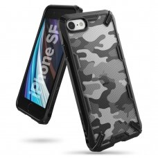 akcija! Iphone SE 2020 dėklas Ringke Fusion X Camo PC plastikas+ TPU juodas