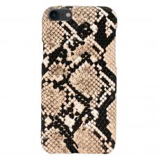 iphone se 2020 dėklas su gyvatės rašto imitacija Vennus WILD smėlinis