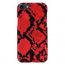 iphone 7/ 8 dėklas su gyvatės rašto imitacija Vennus WILD raudonas