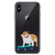 """Iphone X / Iphone Xs TPU dėklas unikaliu dizainu 1.0 mm """"u-case Airskin Doggo 2 design"""""""