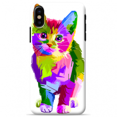 "Iphone X / Iphone XS TPU dėklas unikaliu dizainu 1.0 mm ""u-case Airskin Kitty design"""