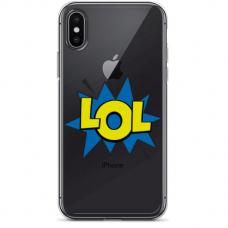 """Iphone X / Iphone XS silikoninis dėklai su paveikslėliu 1.0 mm """"tavotel LOL design"""""""