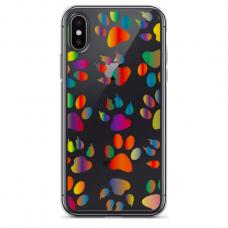 """Iphone Xs MAX TPU dėklas unikaliu dizainu 1.0 mm """"u-case Airskin PAW design"""""""
