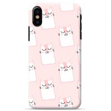 """Iphone XR TPU dėklas unikaliu dizainu 1.0 mm """"u-case airskin PINK KATO design"""""""