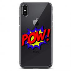 """Iphone Xs MAX TPU dėklas unikaliu dizainu 1.0 mm """"u-case Airskin POW design"""""""