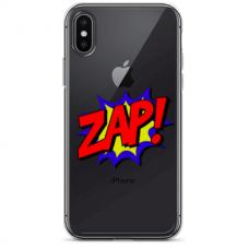 """Iphone X / Iphone Xs TPU dėklas unikaliu dizainu 1.0 mm """"u-case Airskin ZAP design"""""""