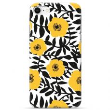 """Iphone SE 2020 TPU dėklas unikaliu dizainu 1.0 mm """"u-case Airskin Flowers 2 design"""""""
