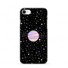 """Iphone 7 / iphone 8 TPU dėklas unikaliu dizainu 1.0 mm """"u-case Airskin Planet design"""""""