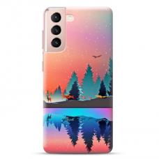 """Samsung Galaxy S21 TPU dėklas unikaliu dizainu 1.0 mm """"u-case Airskin Nature 5 design"""""""