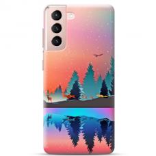 """Samsung S21 Plus TPU dėklas unikaliu dizainu 1.0 mm """"u-case Airskin Nature 5 design"""""""